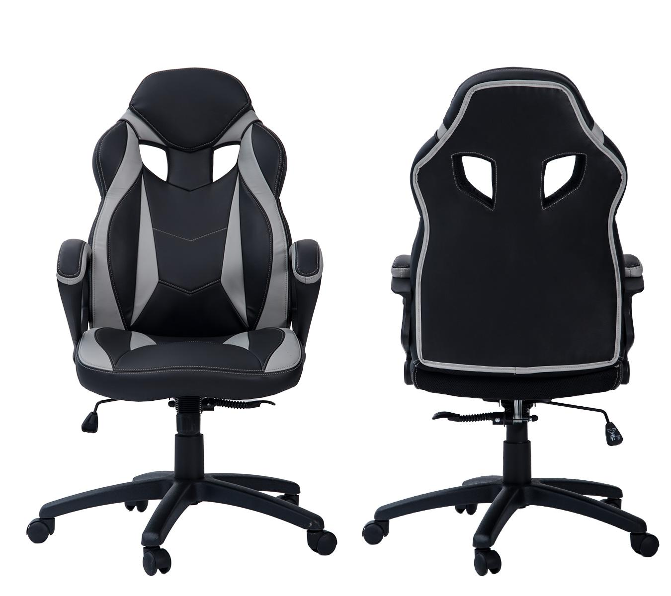 Merax ergonomic racing style pu leather gaming - Amazon bedroom chairs and stools ...