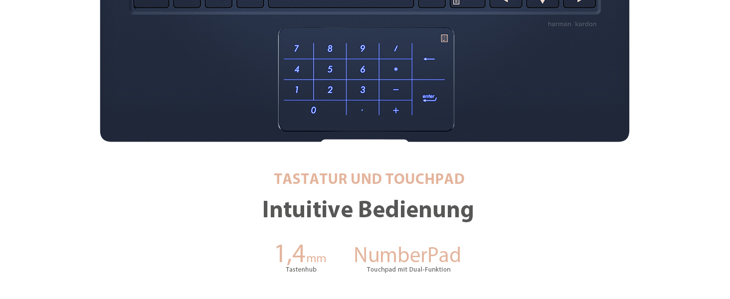 Numberpad, touchpad, innovativ, clever, smart