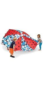 lady bug, parachute, kids, play