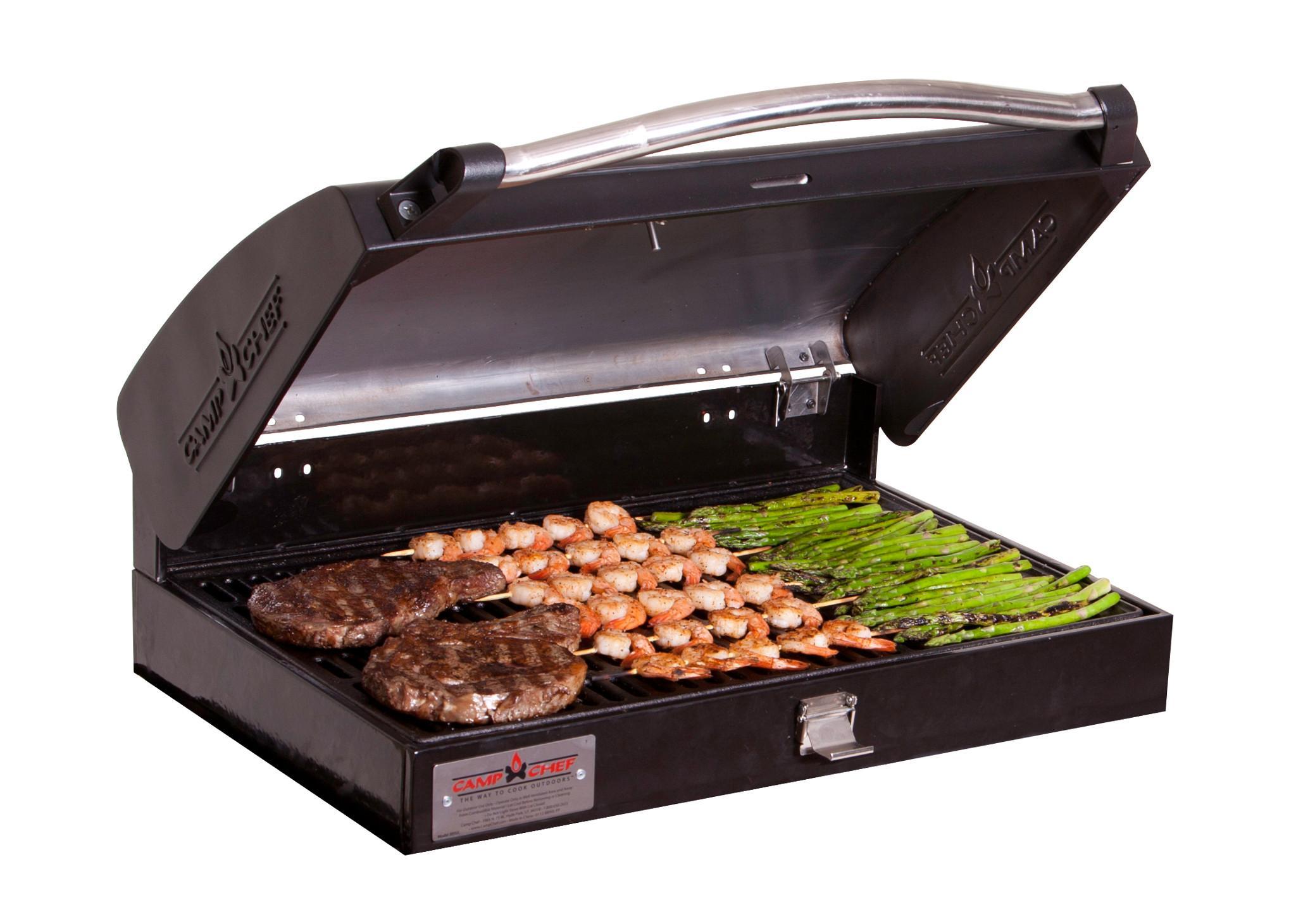 820b8339764c Camp Chef BB-90L Professional Sport Grill Box, Covers 2 Left Burners (Black)
