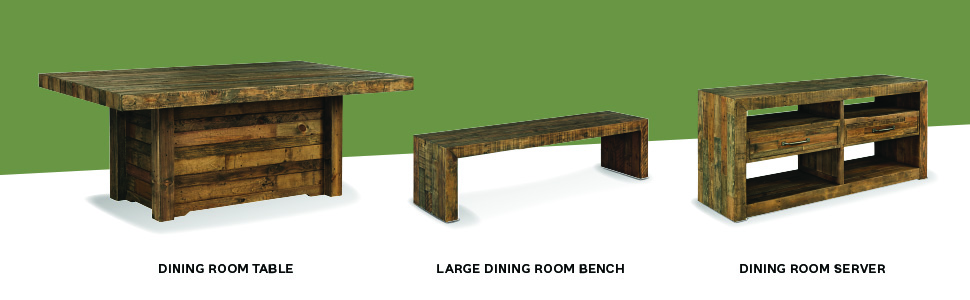 dining room table bench server curio contemporary rustic mid century modern design