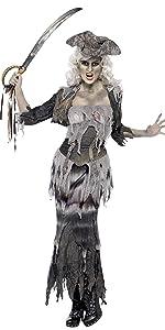 Damen Geisterschiff Ghulina Kostüm