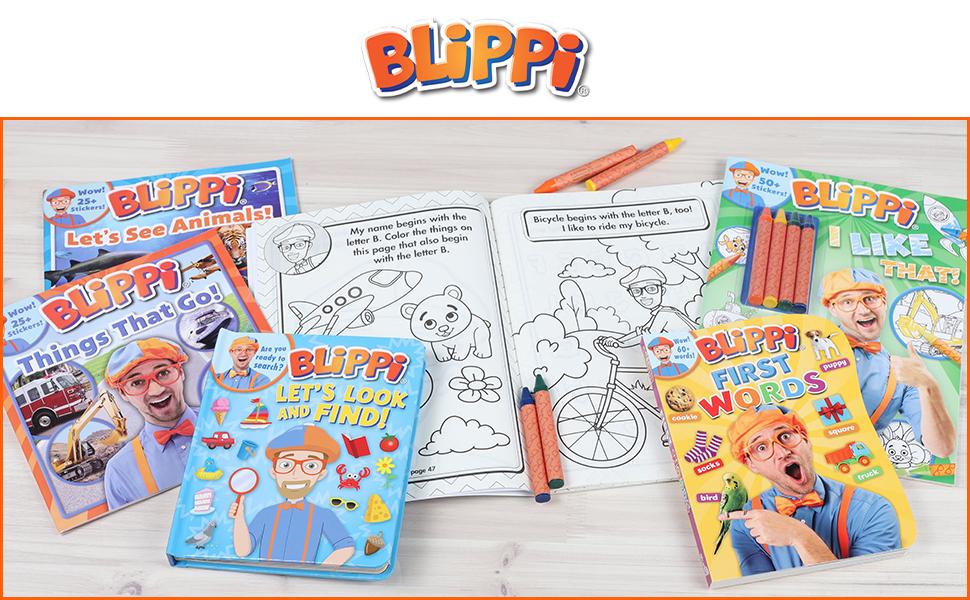 Blippi, Blippi Books, Children's Books, Activity Books, Interactive Books