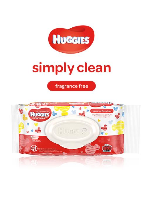 Huggies Simple Clean Wipes Unscented