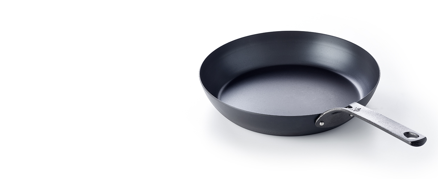 BK frying pan, carbon steel, black steel, cast iron, tough, durable nonstick, grill, outdoor cooking