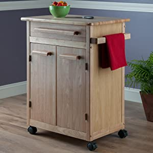 Amazon Com Winsome Wood Single Drawer Kitchen Cabinet Storage