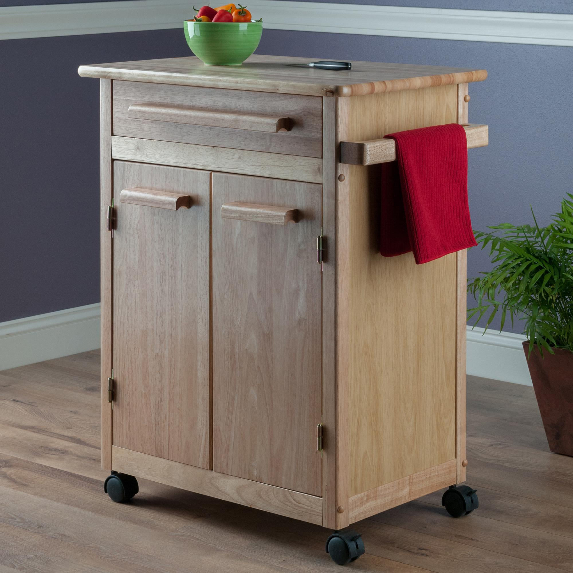 single kitchen cabinet winsome wood single drawer storage cart 26158