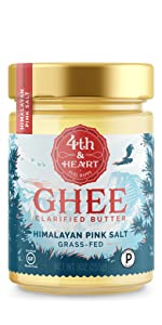 fourth and heart 4th himalayan pink salt ghee clarified butter grass fed lactose free keto