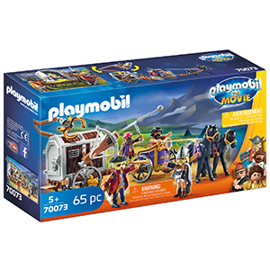 PLAYMOBIL: THE MOVIE Charlie con Carro Prisión, a Partir de 5 Años ...