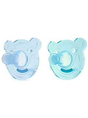 Soothie, Soothie shape, bear Soothie, bear shaped Soothie, one piece pacifier, hospital pacifier