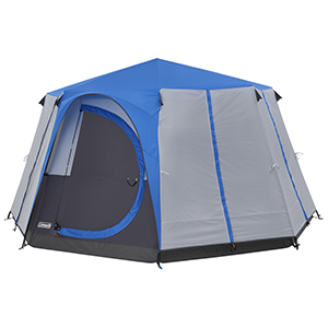 new york afde4 7a053 Coleman Tent Octagon, 6 to 8 man Festival tent, large Dome Tent with full  standing head height, 100% waterproof Family Camping Tent with sewn in ...