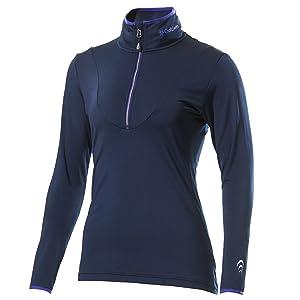 [シースリーフィット] スポーツインナー アドバンスウォームジップアップロングスリーブ 発熱 保温 防寒 UVプロテクト レディース