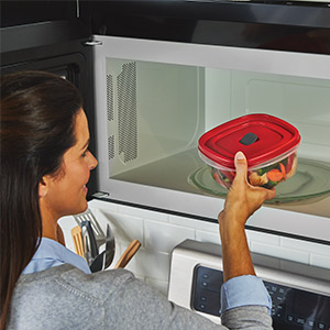 Microwave safe with vent open