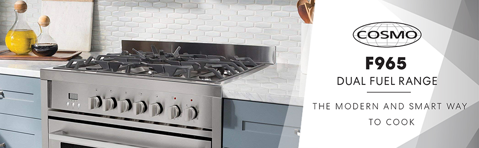 9c0e1b98528 Amazon.com  Cosmo F965 36-Inches Dual Fuel Gas Range with 3.8 cu. ft ...