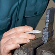 groove weld strips is placed in the vise and the backing plate marked soapstone