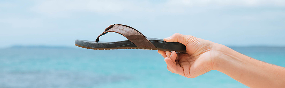 Cushion Bounce Sandals, Leather, Comfort, Support, Cushion, REEF, Beach Freely