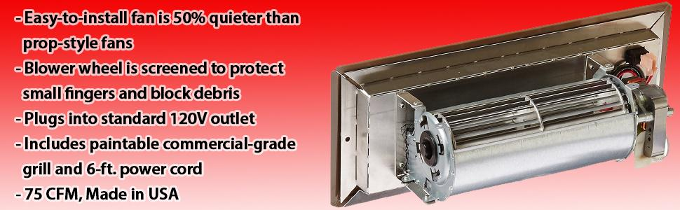 Square Duct Booster Fan : Tjernlund rb register booster fan fits quot