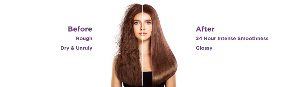 ultra glossy hair,shiny hair,tangle free hair,detangle,straight hair,soft hair,salon finish hair