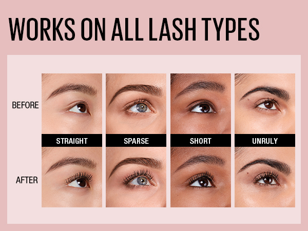 works on all lash types - before and after image