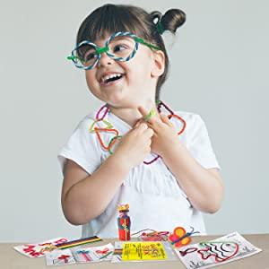 Fun Favors, Wikki Stix, Kid crafts, crafts for kids