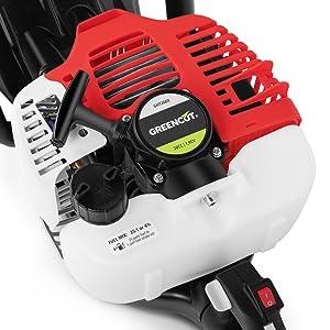Greencut GHT260X - Cortasetos con motor de gasolina de 26cc, con ...
