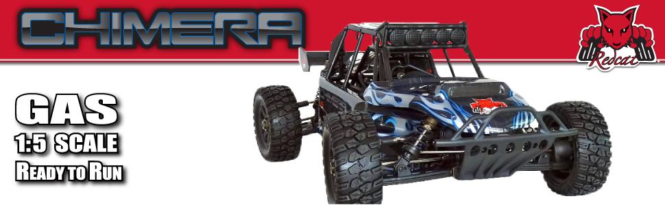 Redcat Racing Rampage Chimera SR Sand Rail Vehicle, Black/Blue, 1/5 Scale