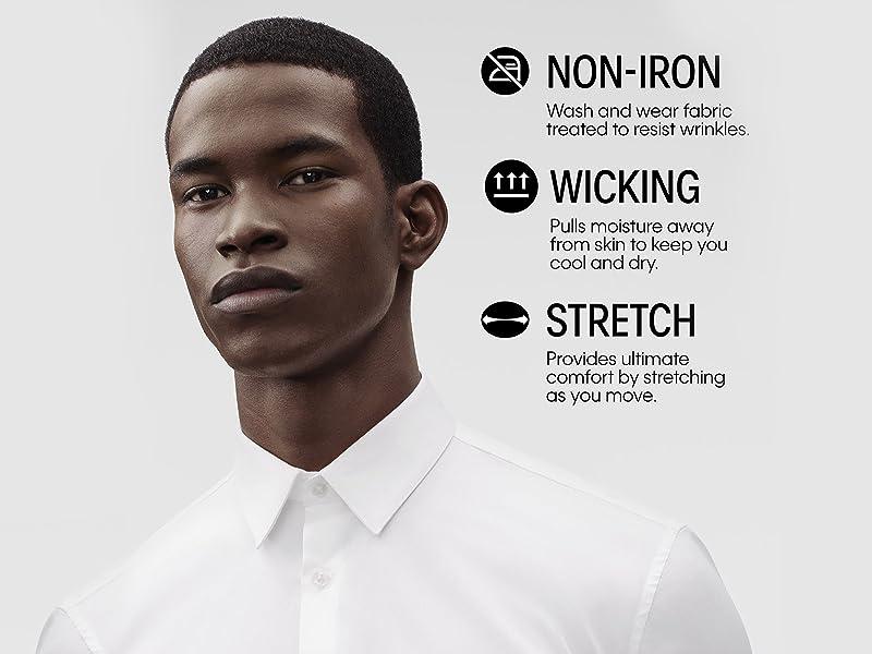 Calvin Klein Steel Wicking and Non Iron