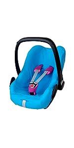 ByBoom Universal Sommerbezug, Schonbezug aus 100% Baumwolle, für Babyschale, Autositz, z.B. Maxi Cos
