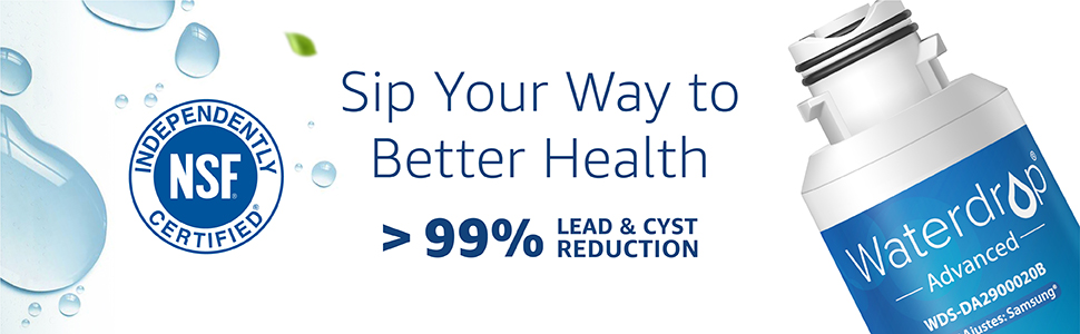 Sip Your Way to Better Health    > 99% Lead & Cyst Reduction