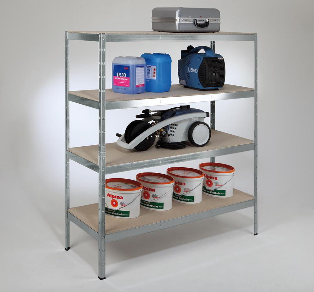 schulte schwerlast steckregal xxl regal metall 180x160x60 cm traglast 1000 kg 4 holz b den. Black Bedroom Furniture Sets. Home Design Ideas