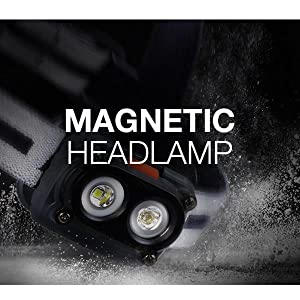 Magnetic Headlamp, Maglamp, Maglight, Magnetic Flashlight, Hunting, Hiking, Running, Camping, Walk