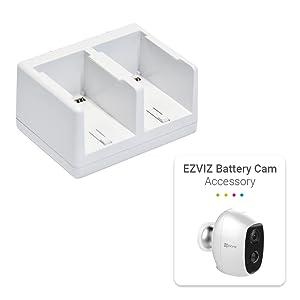 Ezviz Doppel Ladegerät Für C3a Batterien Kamera