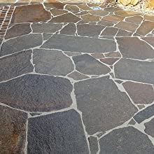 Cleaning crazy paving