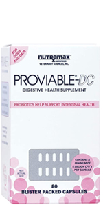 Proviable DC multi-strain probiotic supplement for dogs and cats supports healthy intestinal balance