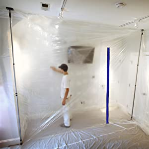 dust containment, sheeting pole, dust containment system, zip wall
