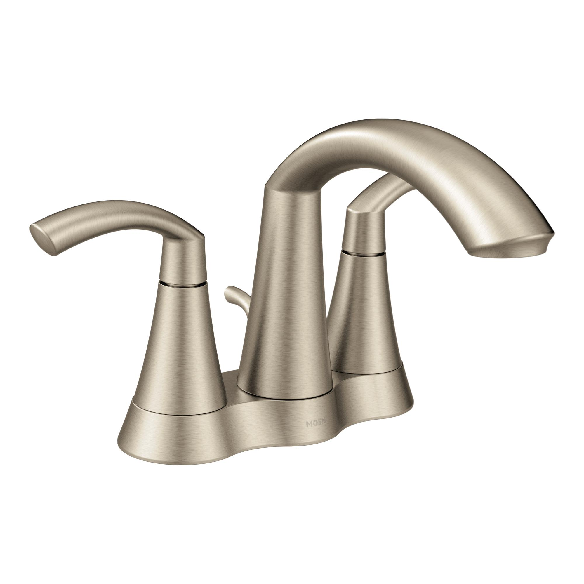 Moen 6172 glyde two handle high arc bathroom faucet chrome Amazon bathroom faucets moen
