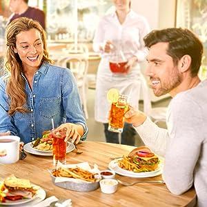 Friends enjoying tea at a cafe