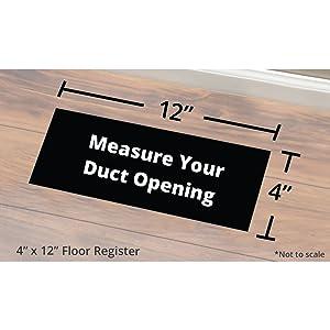 floor register size measuring
