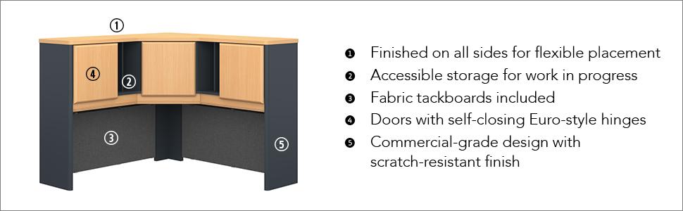 bush,bush business furniture,office furniture,office,desks,series A,beech