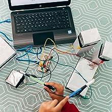 Ebotics Croc & Play - Kit creación interactiva (17 entradas, toma ...
