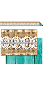 Shabby Chic Double-Sided Border Trim