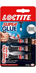 Loctite power flex mini trio super lijm flexibel