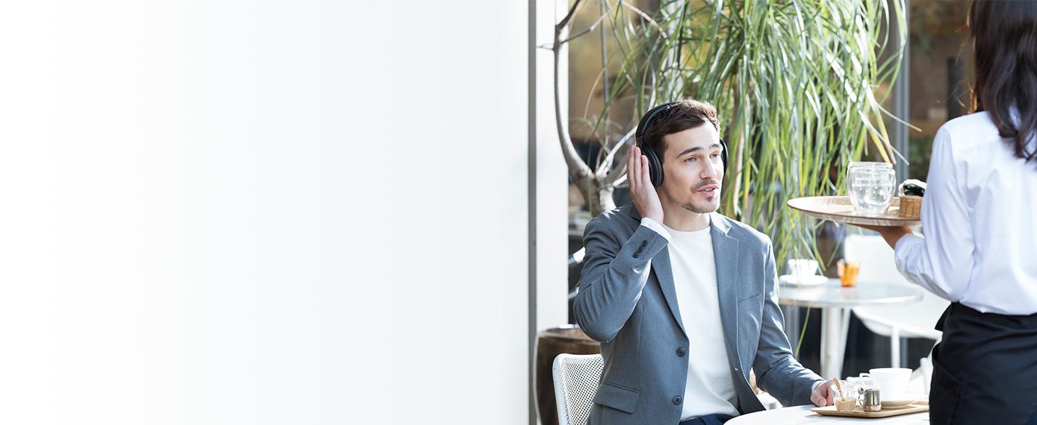 Panasonic RP-HD605N premium noise cancelling wireless headphones -ambient sound enhancer