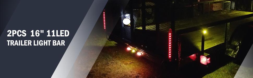 trailer light bar marker ID bar