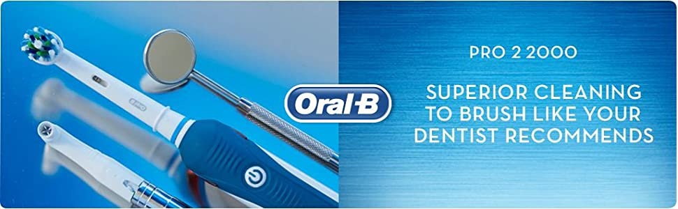 Cleaner teeth with the Oral-B PRO 2 2000 electric toothbrush