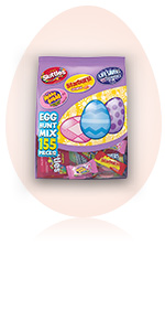 SKITTLES, STARBURST, LIFE SAVERS & HUBBA BUBBA Egg Hunt Variety Mix Candy (155 Pieces)