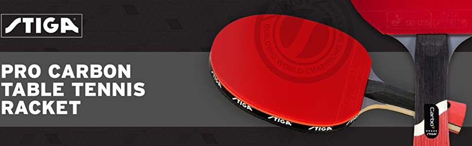STIGA Pro Carbon Performance-Level Table Tennis Racket with Carbon Technology