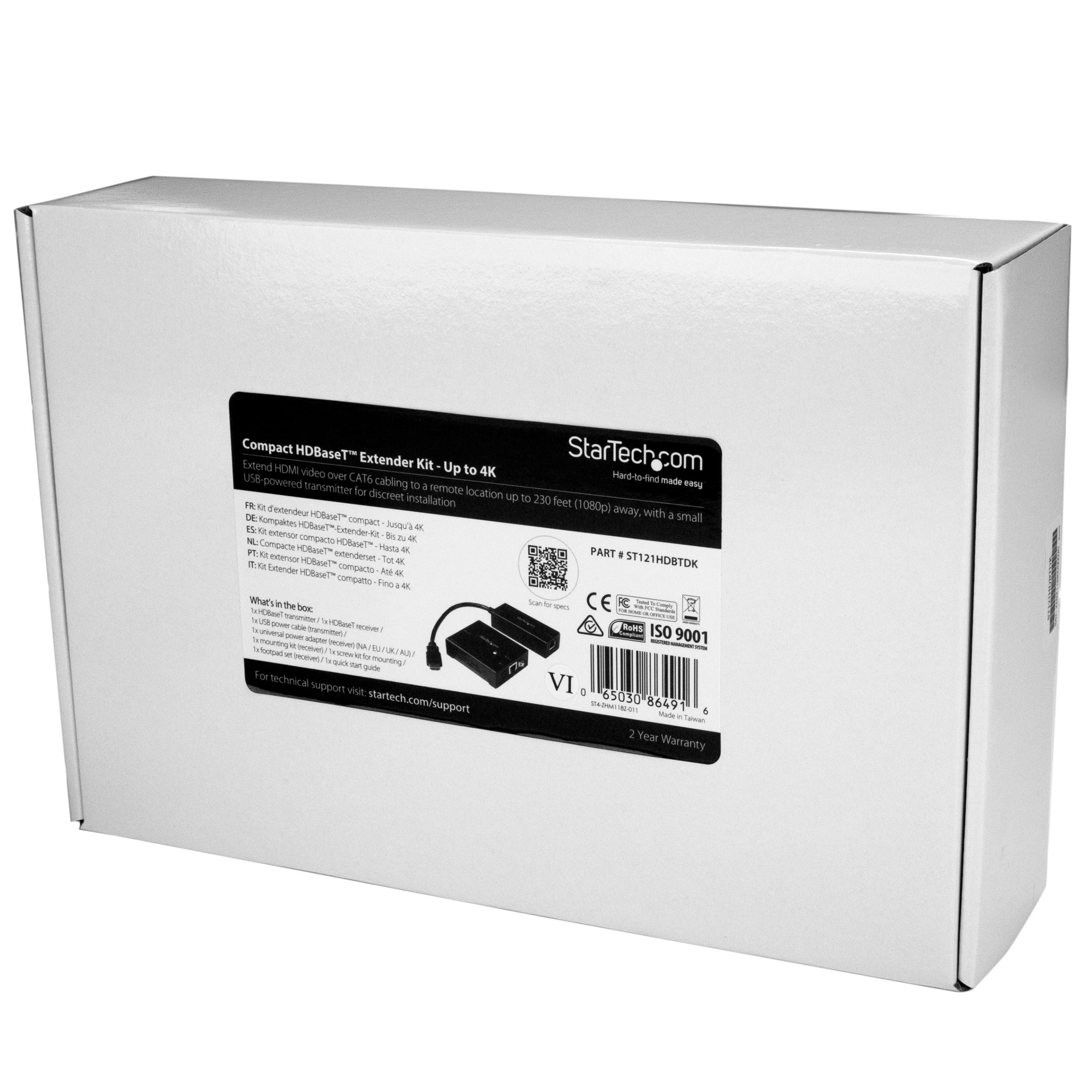 amazon com startech com hdbaset extender kit with compact rh amazon com