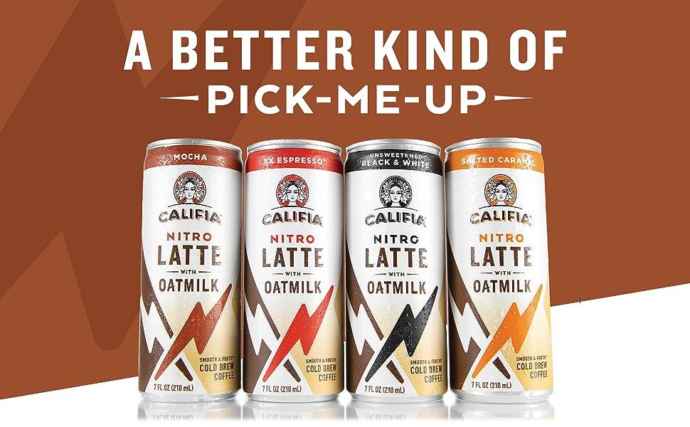 Oatmilk, Coffee, Nitro, Foam, Cold Brew, Energy, Caffeine, Espresso, Dairy Free, Latte, Sugar Free