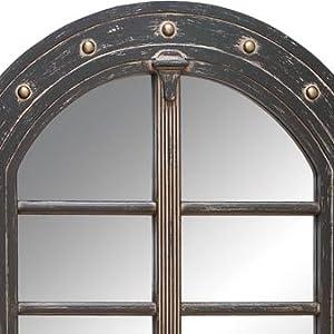 CASEWIND Espejo de Pared para ba/ño o Dormitorio con Acabado Antiguo de lat/ón